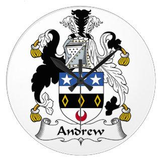 Escudo de la familia de Andrew Reloj Redondo Grande