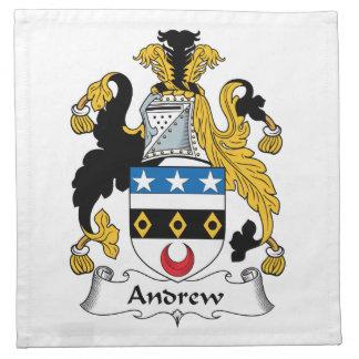 Escudo de la familia de Andrew Servilleta De Papel