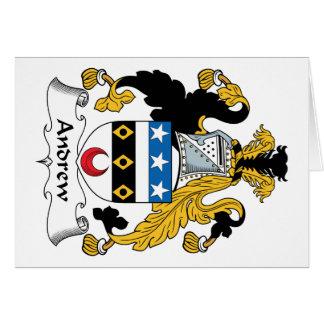 Escudo de la familia de Andrew Felicitación