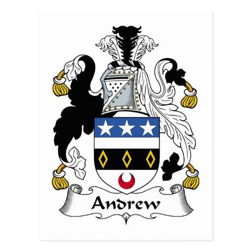 Escudo de la familia de Andrew Tarjeta Postal