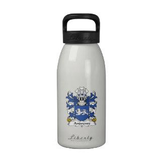Escudo de la familia de Andrewe Botella De Agua Reutilizable