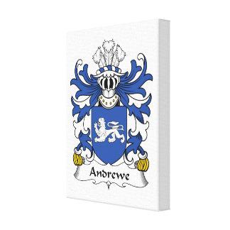 Escudo de la familia de Andrewe Impresiones En Lona Estiradas