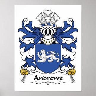 Escudo de la familia de Andrewe Poster