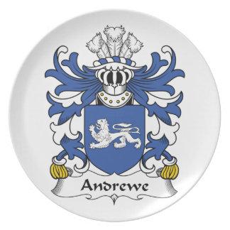 Escudo de la familia de Andrewe Platos De Comidas