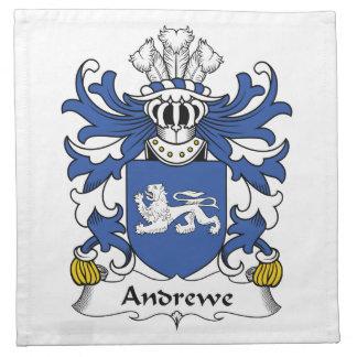 Escudo de la familia de Andrewe Servilleta Imprimida