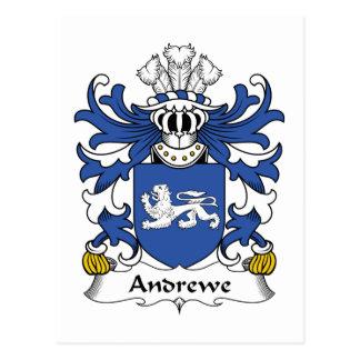 Escudo de la familia de Andrewe Tarjeta Postal