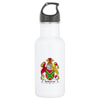 Escudo de la familia de Andrews Botella De Agua