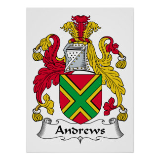 Escudo de la familia de Andrews Póster