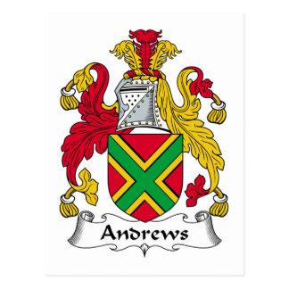 Escudo de la familia de Andrews Tarjetas Postales