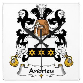 Escudo de la familia de Andrieu Reloj De Pared