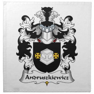 Escudo de la familia de Andruszkiewicz Servilleta De Papel
