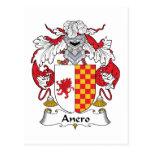Escudo de la familia de Anero Tarjetas Postales