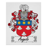 Escudo de la familia de Ángel Posters
