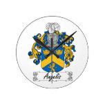 Escudo de la familia de Angelis Relojes De Pared