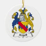 Escudo de la familia de Angell Ornamentos De Navidad