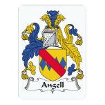 Escudo de la familia de Angell Invitación 12,7 X 17,8 Cm