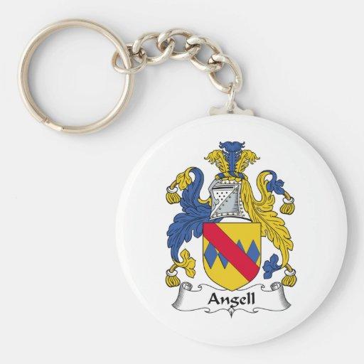 Escudo de la familia de Angell Llavero Redondo Tipo Pin