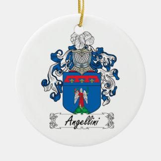 Escudo de la familia de Angellini Adorno Navideño Redondo De Cerámica