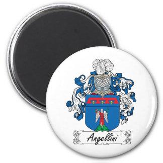 Escudo de la familia de Angellini Imán Redondo 5 Cm