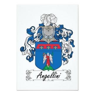 """Escudo de la familia de Angellini Invitación 5"""" X 7"""""""