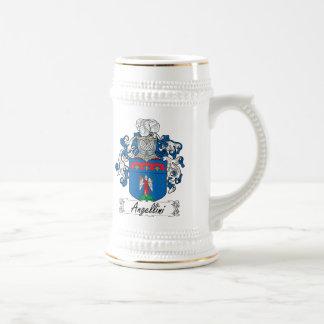 Escudo de la familia de Angellini Jarra De Cerveza