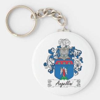 Escudo de la familia de Angellini Llavero Redondo Tipo Pin