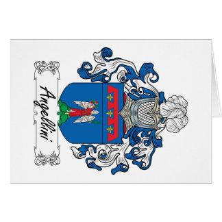 Escudo de la familia de Angellini Tarjeta De Felicitación