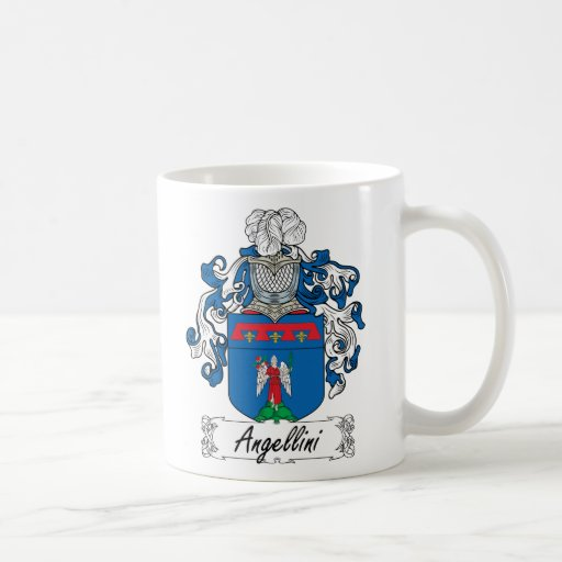 Escudo de la familia de Angellini Taza Básica Blanca