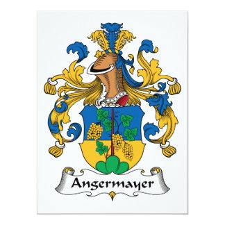 """Escudo de la familia de Angermayer Invitación 6.5"""" X 8.75"""""""