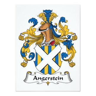 """Escudo de la familia de Angerstein Invitación 6.5"""" X 8.75"""""""