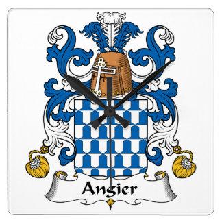 Escudo de la familia de Angier Reloj De Pared