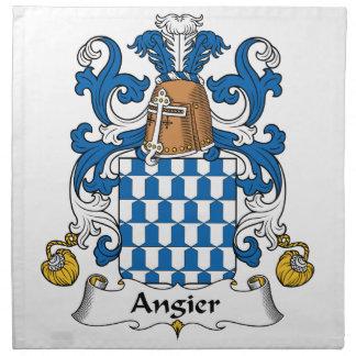 Escudo de la familia de Angier Servilleta Imprimida