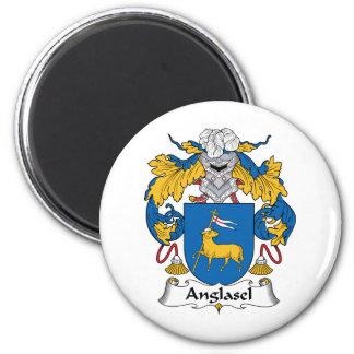 Escudo de la familia de Anglasel Imán Redondo 5 Cm