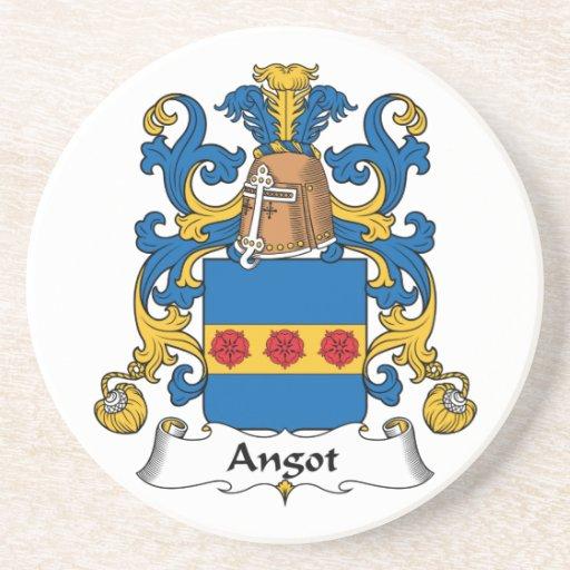 Escudo de la familia de Angot Posavasos Personalizados