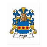 Escudo de la familia de Angot Postal