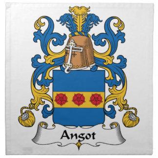 Escudo de la familia de Angot Servilletas Imprimidas
