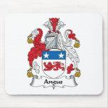 Escudo de la familia de Angus Alfombrillas De Ratones