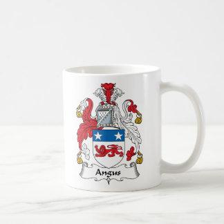 Escudo de la familia de Angus Taza Básica Blanca