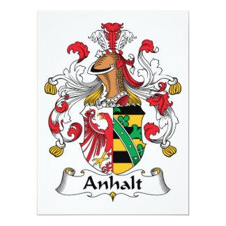 """Escudo de la familia de Anhalt Invitación 6.5"""" X 8.75"""""""