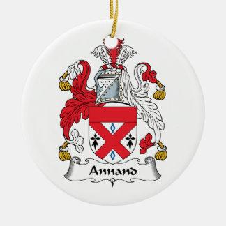 Escudo de la familia de Annand Adorno Redondo De Cerámica