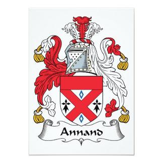 Escudo de la familia de Annand Invitación 12,7 X 17,8 Cm