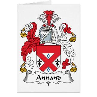 Escudo de la familia de Annand Tarjeta