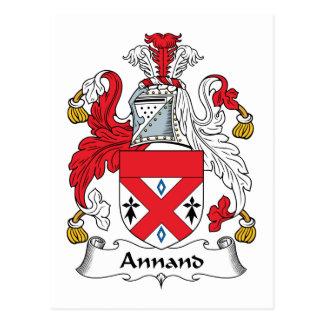Escudo de la familia de Annand Postal