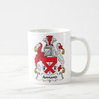 Escudo de la familia de Annand Tazas De Café