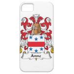 Escudo de la familia de Anne iPhone 5 Case-Mate Cárcasa