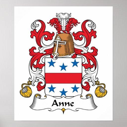 Escudo de la familia de Anne Posters