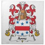 Escudo de la familia de Anne Servilleta Imprimida