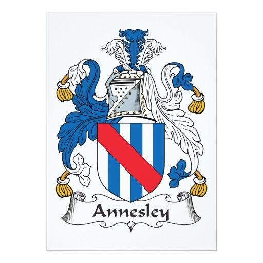 """Escudo de la familia de Annesley Invitación 5"""" X 7"""""""
