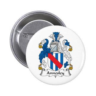 Escudo de la familia de Annesley Pin Redondo 5 Cm