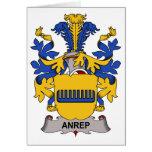 Escudo de la familia de Anrep Tarjetas